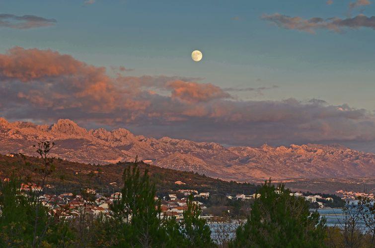 Moon over Velebit
